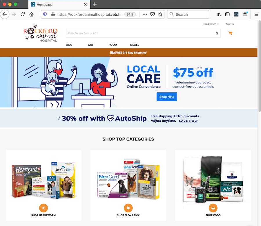 onlinepharmacy-store-rockford animal hospial